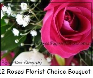 12 Roses florist choice Bouquet